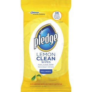 Pledge Lemon Furniture Polish Wipes 624489PK SJN624489PK
