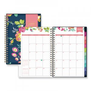 Blue Sky Day Designer CYO Weekly/Monthly Planner, 5 x 8, Navy/Floral, 2019 BLS103620