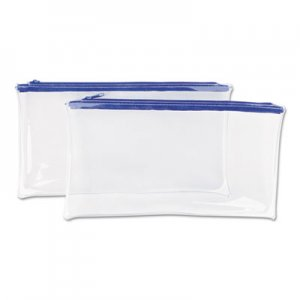 Genpak Zippered Wallets/Cases, 11 x 6, Clear UNV69025