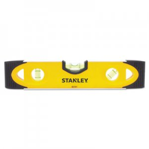 "Stanley 9"" Magnetic Shock Resistant Torpedo Level, 9"", Plastic BOS43511 43-511"
