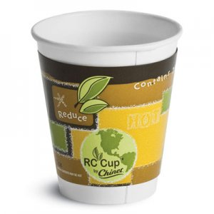 Chinet Insulated Hot Cups, 12 oz, White, 645/Carton HUH63500 63500