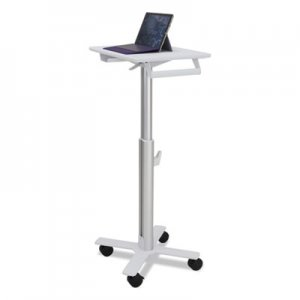 "Ergotron StyleView 10 S-Tablet Cart for MS Surface, 23"" x 19"" x 33"" - 48"", White/Aluminum ERGSV1018000 SV10-1800"