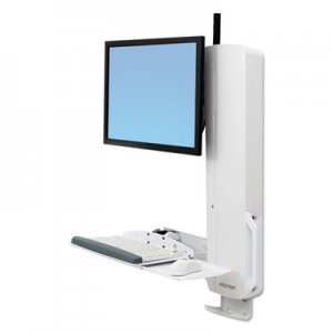 Ergotron StyleView Sit-Stand Vertical Lift For High Traffic Areas, White ERG61081062 61-081-062