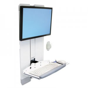Ergotron StyleView Vertical Lift For High Traffic Areas, White ERG60593216 60593216