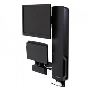 Ergotron StyleView Sit-Stand Vertical Lift For High Traffic Areas, Black ERG61081085 61-081-085