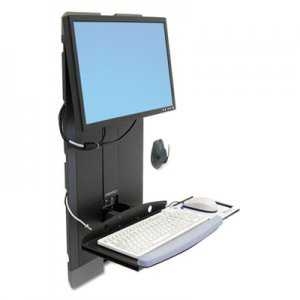 Ergotron StyleView Vertical Lift For High Traffic Areas, Black ERG60593195 60593195