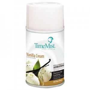 TimeMist Metered Aerosol Fragrance Dispenser Refills, Vanilla Cream, 6.6oz, 12/Carton TMS1042737