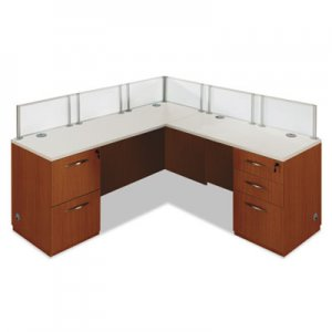 "DMI Causeway Series Single ""L"" Workstation, 72w x 72d x 30h, Honey Maple/White DMI7041WLD003 7041WLD003"