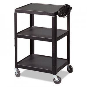 BALT Adjustable Steel Utility Cart, 24w x 18d x 26 to 42h, Black BLT85892 85892