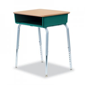 Virco 785 Open-Front Student Desk w/Colored Bookboxes, 24w x 18d, Forest Green, 2/CT VIR78538507502 785GRN75MPL385GRY02