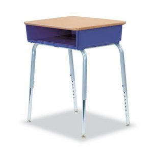 Virco 785 Open-Front Student Desk w/Colored Bookboxes, 24w x 18d, Purple Iris, 2/CT VIR78538504302 785PUR43MPL385GRY02
