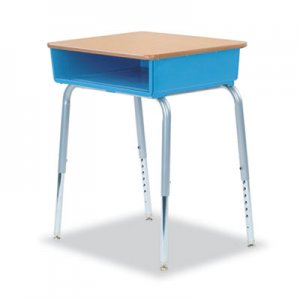 Virco 785 Open-Front Student Desk w/Colored Bookboxes, 24w x 18d, Blueberry, 2/Carton VIR78538504002 785BLU40MPL385GRY02