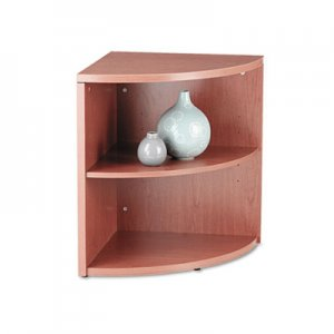HON 10500 Series Two-Shelf End Cap Bookshelf, 24w x 24d x 29-1/2h, Bourbon Cherry HON105520HH H105520.HH