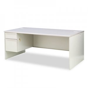 HON 38000 Series Left Pedestal Desk, 72w x 36d x 29-1/2h, Light Gray HON38294LG2Q H38294L.G2.Q