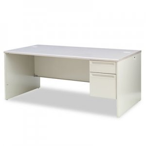 HON 38000 Series Right Pedestal Desk, 72w x 36d x 29-1/2h, Light Gray HON38293RG2Q H38293R.G2.Q