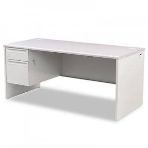 HON 38000 Series Left Pedestal Desk, 66w x 30d x 29-1/2h, Light Gray HON38292LG2Q H38292L.G2.Q