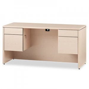 HON 10500 Series Kneespace Credenza With 3/4-Height Pedestals, 60w x 24d, Nat Maple HON10565DD H10565.DD