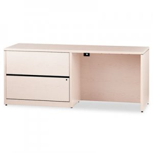 HON 10500 Series Credenza w/Left Lateral File, 72w x 24d x 29-1/2h, Natural Maple HON10548LDD H10548L.DD