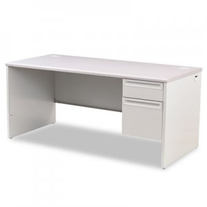 HON 38000 Series Right Pedestal Desk, 66w x 30d x 29-1/2h, Light Gray HON38291RG2Q H38291R.G2.Q