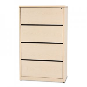 HON 10500 Series Four-Drawer Lateral File, 36w x 20d x 59-1/8h, Natural Maple HON10516DD H10516.DD