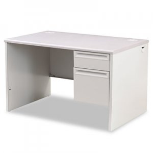 HON 38000 Series Right Pedestal Desk, 48w x 30d x 29-1/2h, Light Gray HON38251G2Q H38251.G2.Q