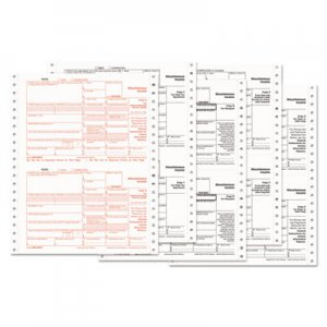 TOPS 1099-MISC Tax Forms, 5-Part Carbonless, 8 x 5 1/2, 600 1099s & 10 1096s TOPB22995 B22995