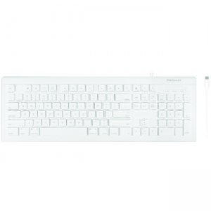 Macally 104 Key Full Size Slim USB-C Keyboard for Mac and PC UCKEYE