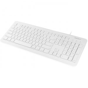 Macally 104 Key Full Size USB Keyboard with Two USB 2.0 Ports for Mac and PC MKEYXU2