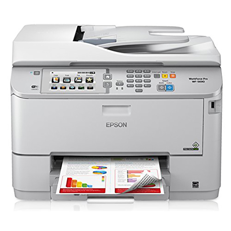 Epson WorkForce Pro WF-5690 Inkjet Multifunction Printer - Color - Plain Paper Print - Desktop C11CD14201 WF-5690 WF-5690