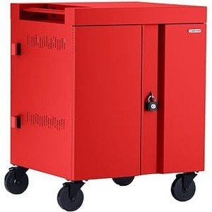 Bretford CUBE Cart AC for Up to 16 Devices w/Back Panel, Red Paint TVC16PAC-RED
