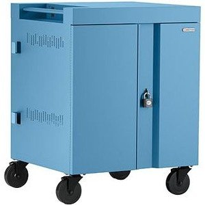 Bretford CUBE Cart AC for Up to 16 Devices w/Back Panel, Sky Paint TVC16PAC-SKY