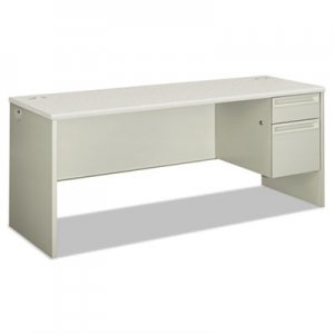HON 38000 Series Single Pedestal Credenza, 72w x 24d x 29 1/2h, Right, Silver/Gray HON38856RB9Q H38856R.B9.Q