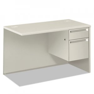 HON 38000 Series Return Pedestal, Box/File, 26.38wx50.38dx31.38h, Right,Silver/Lt GY HON38215RB9Q H38215R.B9.Q