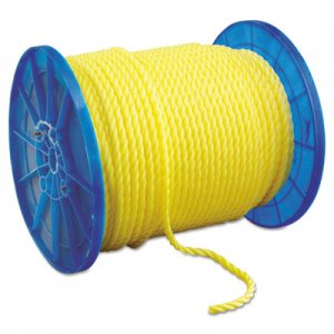 "Hooven Allison Monofilament Twisted Yellow Poly Rop, 1/2"" x 600ft HVN35016000600R 811-350160-00600-R0285"