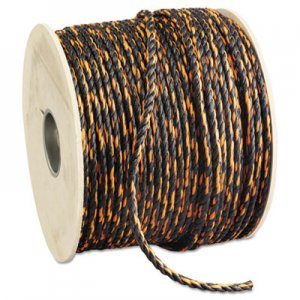 "Hooven Allison Truck Rope 3/8"" x 600' Reel Solid Twisted Orange/Black HVN34012000600R 811-340120-00600-R0330"