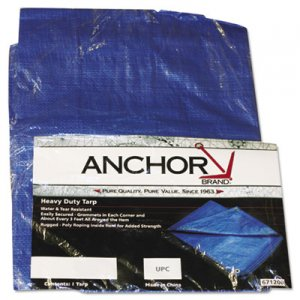 Anchor Brand Multiple Use Tarpaulin, Polyethylene, 10 ft x 16 ft, Blue ANR1016