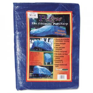 Anchor Brand Multiple Use Tarpaulin, Polyethylene, 10 ft x 12 ft, Blue ANR1012