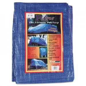 Anchor Brand Multiple Use Tarpaulin, Polyethylene, 8 ft x 10 ft, Blue ANR0810
