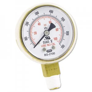 Anchor Brand Replacement Gauge, 2 x 100, Brass ANRB2100