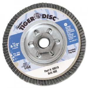 "Weiler Tiger Disc Angled Style Flap Disc, 4-1/2"" Diameter WEI50519 804-50519"