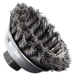 "Weiler SRA-3 General-Duty Knot Wire Cup Brush, .020, 5/8-113, 1/2"" dia WEI13156 804-13156"