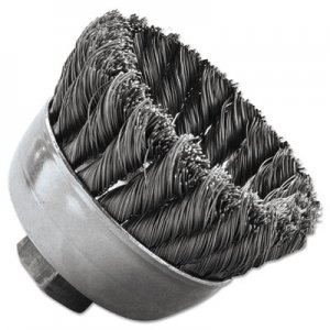 "Weiler SRA-2 General-Duty Knot Wire Cup Brush, .014, 5/8-112, 3/4"" dia WEI13025 804-13025"
