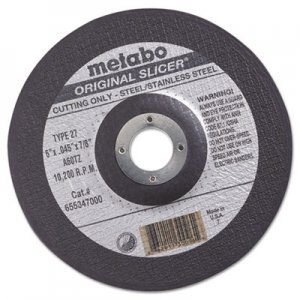 "metabo ORIGINAL SLICER Cutting Wheel, 6"" x .045 x 7/8"", Type 27, A60TZ MEB55347 469-55347"