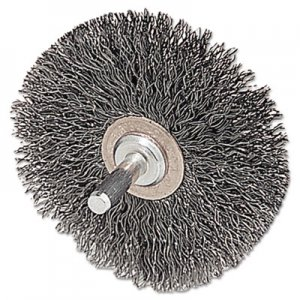 "Weiler CFX-2 Stem-Mounted Crimped Wire Wheel, 2"" dia, Stainless Steel, .0118 Wire WEI17611 804-17611"