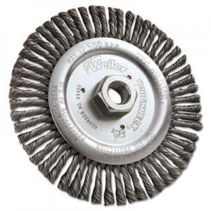 "Weiler Dualife STB-6 Stringer Bead Twist Knot Wire Wheel, 6"" dia, .02 Wire WEI09400 804-09400"