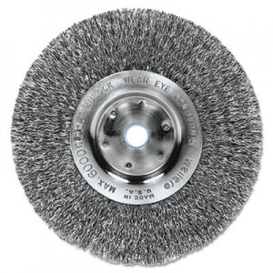 "Weiler Trulock TLN-6 Narrow-Face Crimped Wire Wheel, 6"" dia, .014 Wire WEI01075 804-01075"