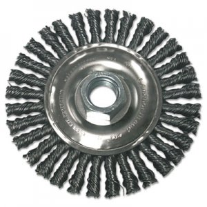 Anchor Brand Stringer Bead Wheel Brush, 4in Diameter, Stainless Steel, .02in Wire ANRR4S58S 102-R4S58S