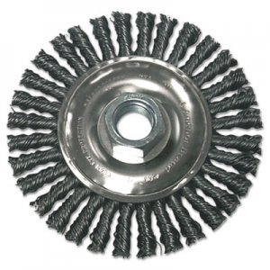 Anchor Brand Stringer Bead Wheel Brush, 4in Diameter, Carbon Steel, .02in Wire ANRR4S58 102-R4S58
