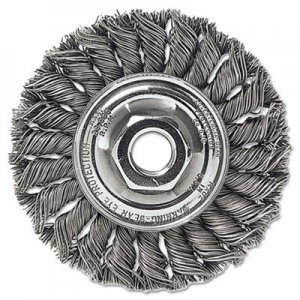 "Weiler Dualife ST-8 Twist Knot Wire Wheel, 8""dia, .023 Wire WEI08155 804-08155"