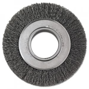 "Anderson Crimped-Wire Wheel, 6"" dia, 1 1/8"" Trim, .0118 Wire, 2"" Arbor ANB01134 066-01134"